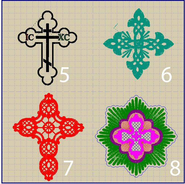 Схема вышивок для крыжмы